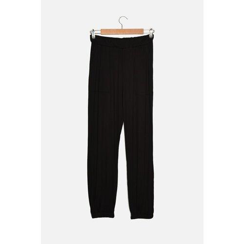 Trendyol Crne pletene pantalone za trčanje Slike