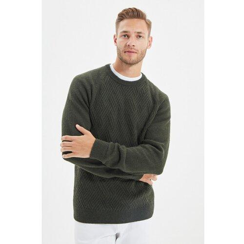 Trendyol Khaki muški pleteni džemper sa tankim raglan rukavima i tankim rukavima s teksturom  Cene