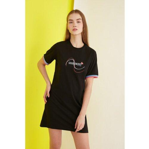 Trendyol Crna vezena pletena haljina crna  Cene