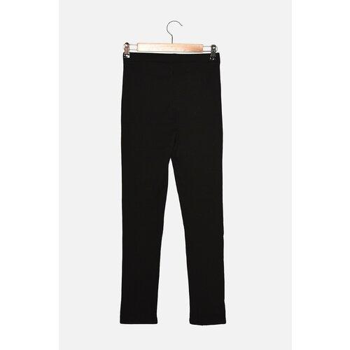 Trendyol Pletene hlače s crnim rebrastim hlačama  Cene