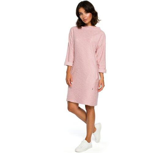 BeWear Ženska haljina B096 bijela smeđa | pink  Cene