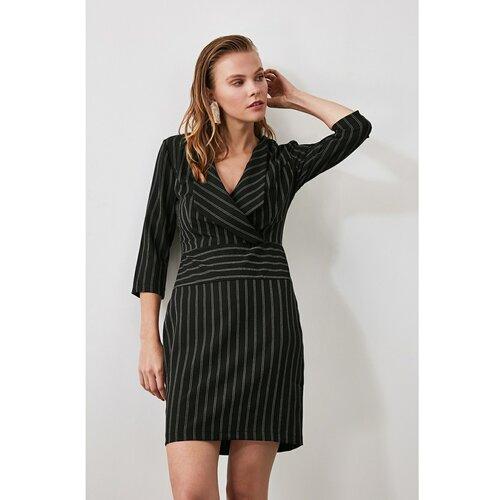 Trendyol Crna haljina na pruge siva  Cene