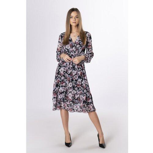 Ptakmoda midi haljina s cvjetnim omotom Slike