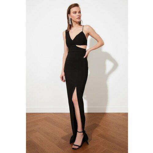 Trendyol crna večernja haljina s dekolteom i haljina za maturu  Cene