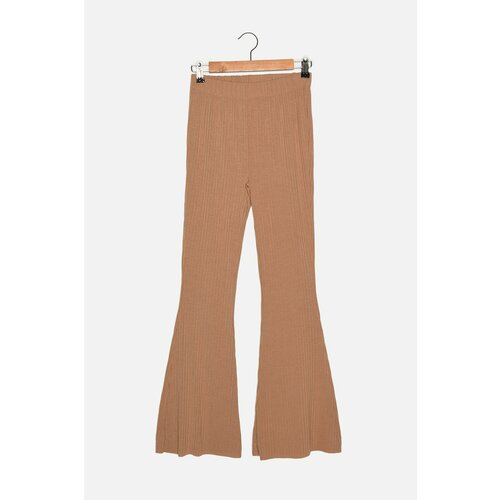 Trendyol Pletene hlače s kamenim rebrastim raketama  Cene