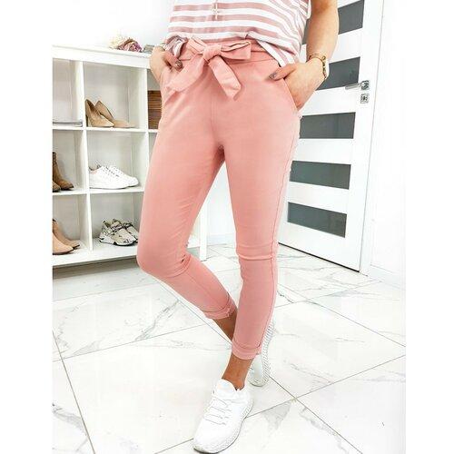 DStreet LOVELY BASIC ženske pantalone roze UY0413 bijele | smeđa | pink  Cene