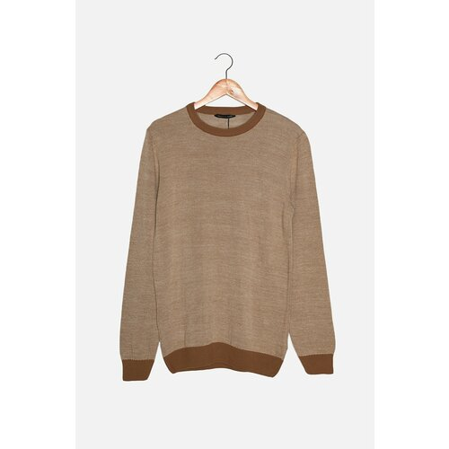 Trendyol Mink Men Slim Fit Džemper s posadom oko vrata u kontrastnoj boji  Cene