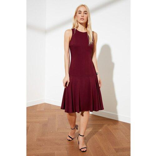 Trendyol Ljubičasta haljina zamašnjaka tamnocrvena  Cene