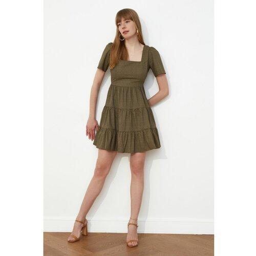 Trendyol višebojna haljina s četvrtastim ovratnikom  Cene