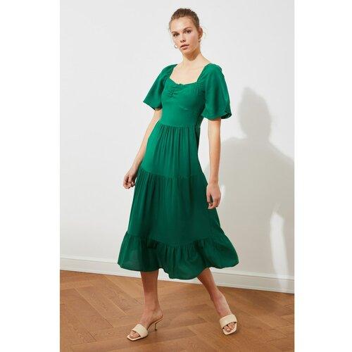Trendyol Ženska haljina Balon Rukav zelena  Cene