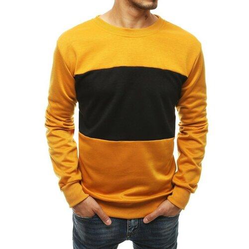 DStreet Žuta muška majica bez kapuljače BX4578 crna   narandžasta   senf  Cene