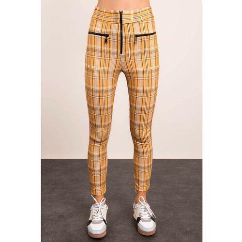 Fashionhunters BSL Pantalone žute i bež boje  Cene