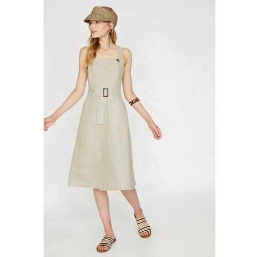 Koton Woman Ženski remen Midi remen Detaljna haljina  Cene