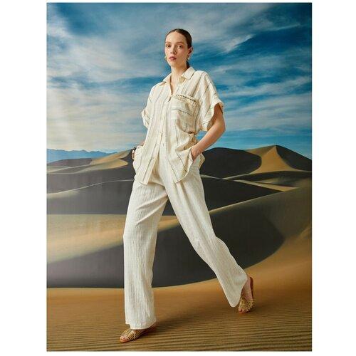 Koton Ženske hlače EKRU sa širokim nogama  Cene