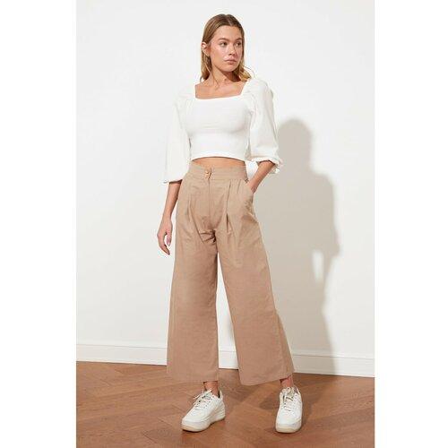 Trendyol Camel široke hlače bijele |. | pink  Cene