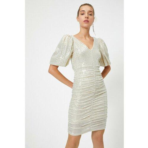 Koton Ženska bijela haljina siva  Cene