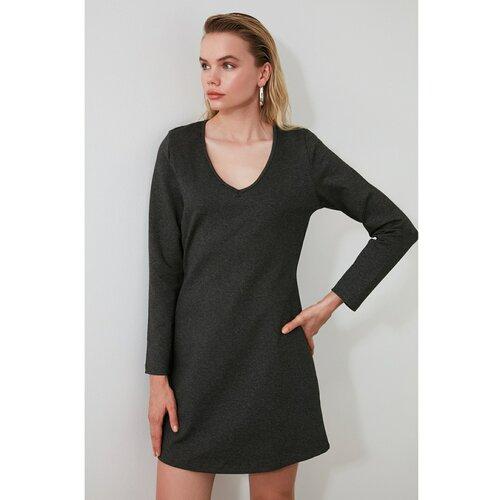 Trendyol haljina za pletenje od antracita sa ovratnikom  Cene