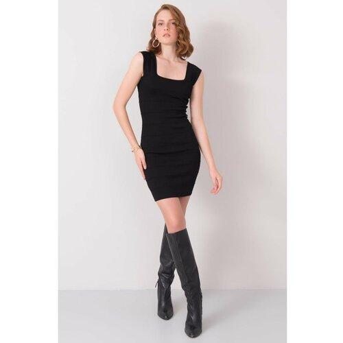 Fashionhunters BSL Crna mini haljina crna siva  Cene