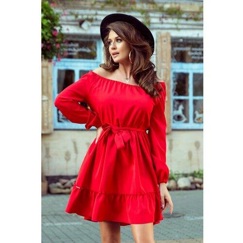 NUMOCO Ženska haljina 265-4 crna | tamnocrvena | Crveno  Cene