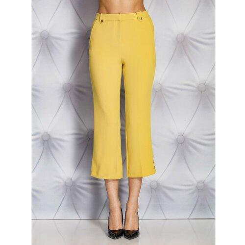 Fashionhunters Svijetlosmeđe hlače s gumbima  Cene