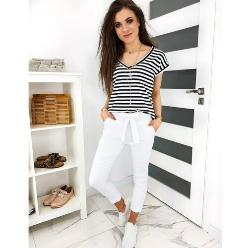 DStreet Ženske pantalone UY0412 bijele smeđa  Cene