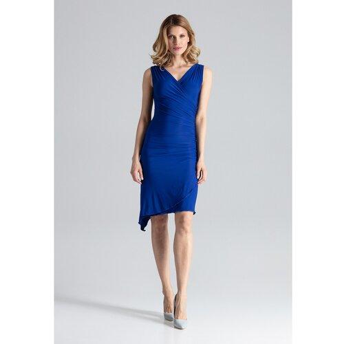 Figl Ženska haljina M053 plava   siva  Cene