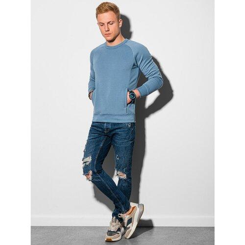 Ombre Odjeća Muška dukserica B1156 crna | plava  Cene