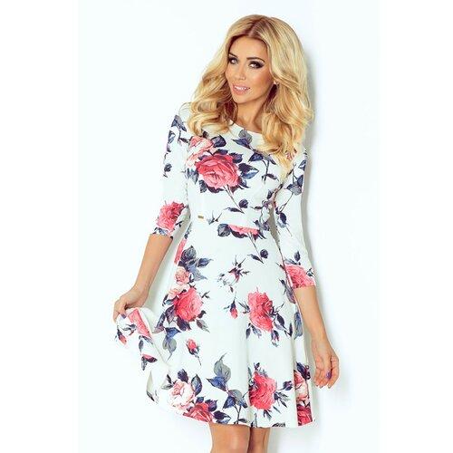 NUMOCO Ženska haljina 49 bijela tamnocrvena | pink  Cene