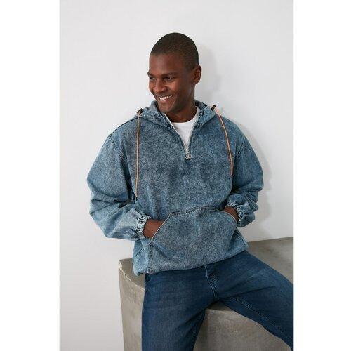 Trendyol Navy muška košulja s kapuljačom  Cene