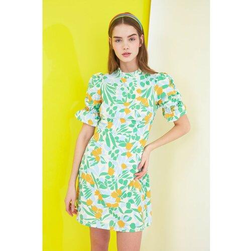 Trendyol Ženska haljina s uzorkom bijela | žuto | svijetlozelena  Cene