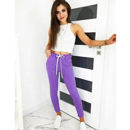 DStreet Ženske hlače MISTIC lilac UY0515 bijele | ljubičasta  Cene