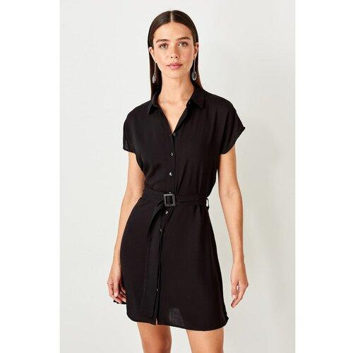 Trendyol Ženska haljina za remen Crna  Cene