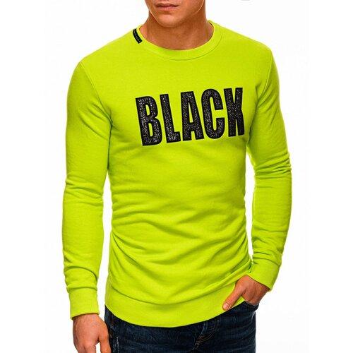Edoti Muška dukserica B1316 crna | svijetlozelena  Cene