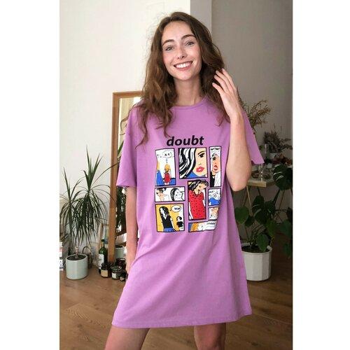 Trendyol Ženska haljina Grafički otisnuta smeđa | Fuksija  Cene