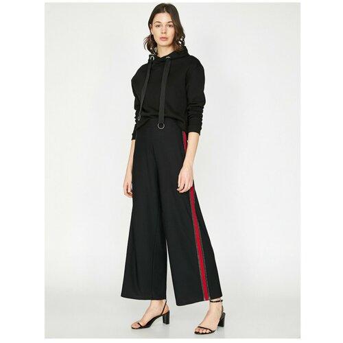 Koton Ženske pantalone sa crnom prugom sa detaljima  Cene