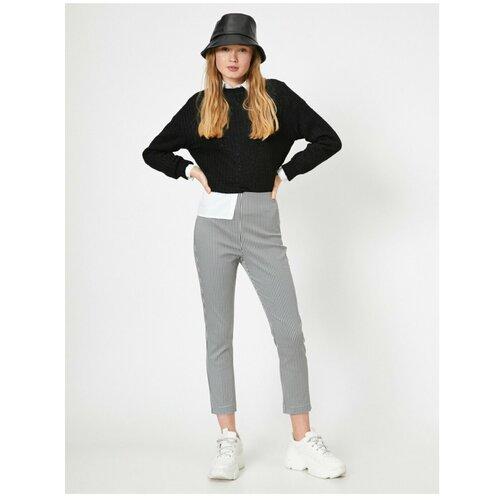 Koton Ženske mješovite četvrtaste hlače crne boje siva  Cene