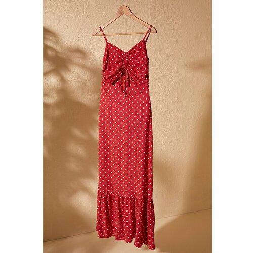 Trendyol Red Scorethrel Smuze detaljna haljina  Cene