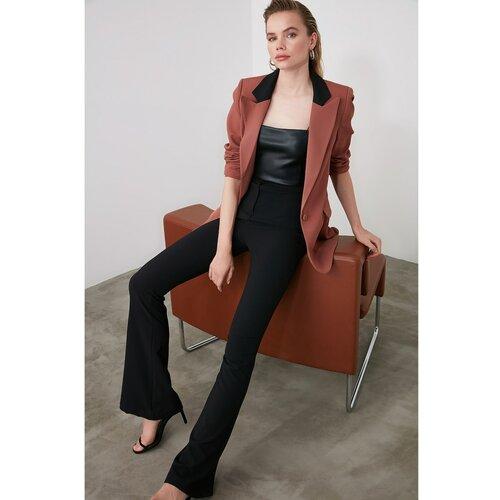 Trendyol Crne španjolske pantalone crne siva  Cene