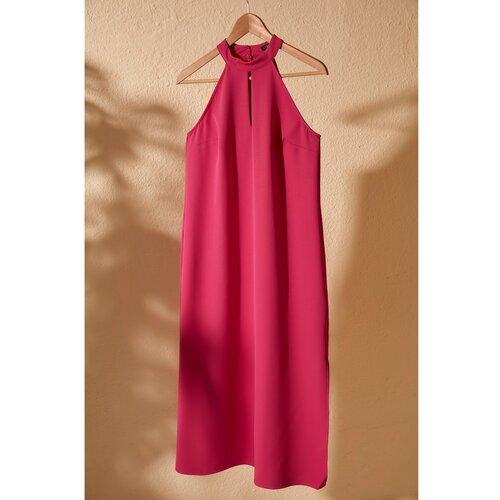 Trendyol detaljna haljina s ružičastim ovratnikom  Cene