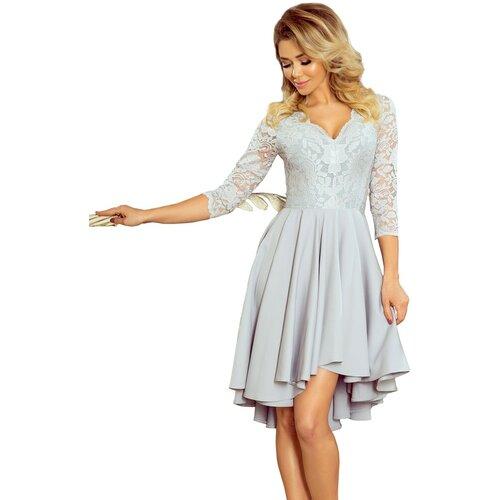 NUMOCO Ženska haljina 210 NICOLLE siva | krem  Cene