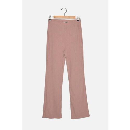 Trendyol Pletene pantalone sa elastičnim strukom sušene ružom  Cene