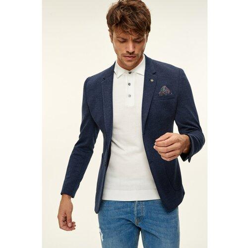 Trendyol tamnoplava muška jakna s melange ovratnikom igle obrišite detaljni sako  Cene