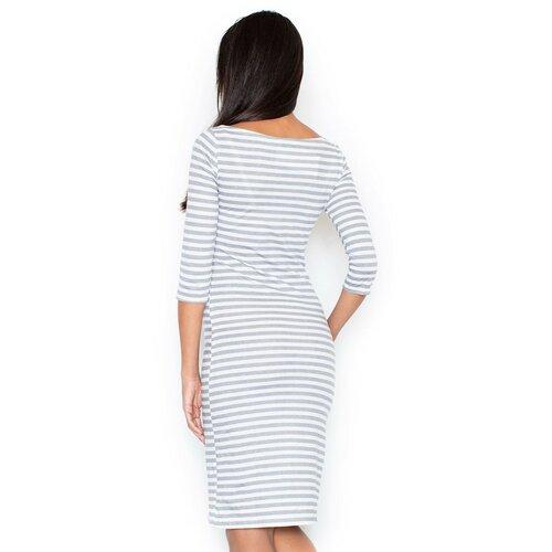 Figl Ženska haljina M311 crna | bijela  Cene