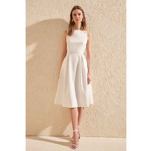 Trendyol Ženska plisirana bijela haljina krema  Cene