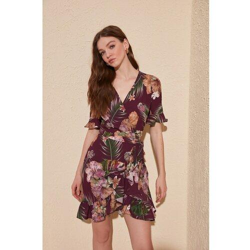 Trendyol Ženska haljina s uzorkom u sivoj boji smeđa | krema | tamnocrvena | pink  Cene