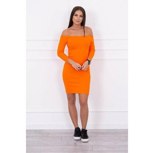 Kesi Haljina opremljena - narandžasta rebrasta narančasta  Cene