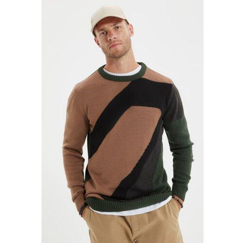 Trendyol Mink muški džemper s tankim krojem s tankim izrezom  Cene