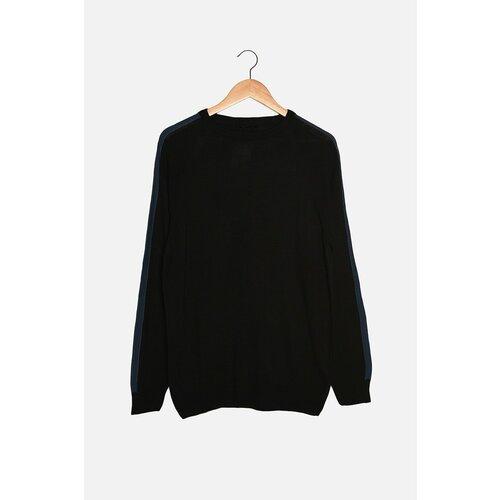 Trendyol Crni muški tanki džemper s tankim krojem s ramenom bojom na ramenu  Cene