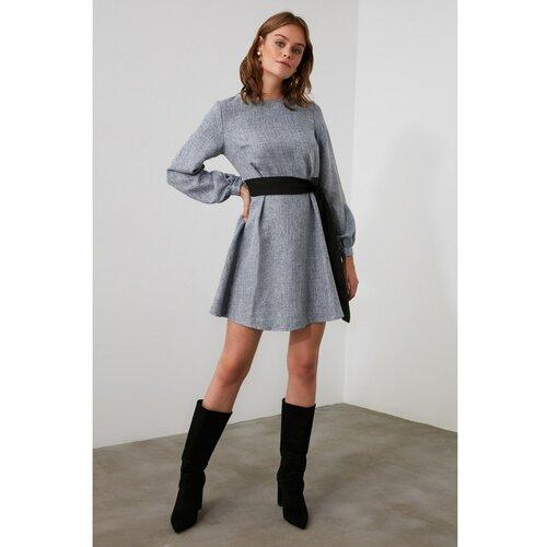 Trendyol Indigo haljina s pojasom  Cene