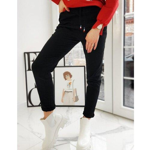 DStreet VICKY ženske pantalone crne UY0737 crne | krema | Crveno  Cene